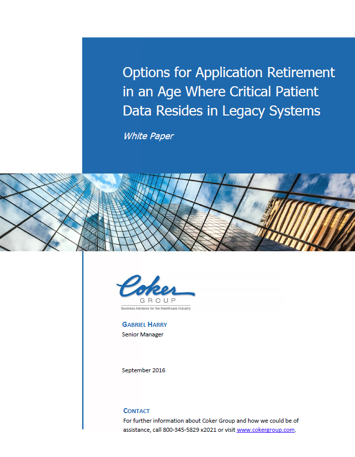 Options for Application Retirement in an Age Where Critical Patient Data Resides in Legacy Systems